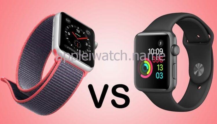 Comparison of Apple Watch Series 2, 3