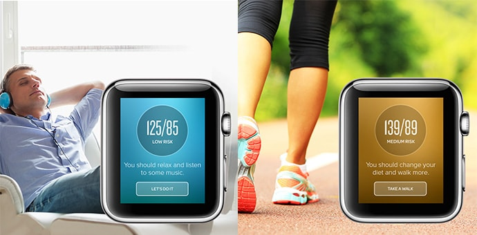 How can you measure the pressure on iWatch using Apple Health?
