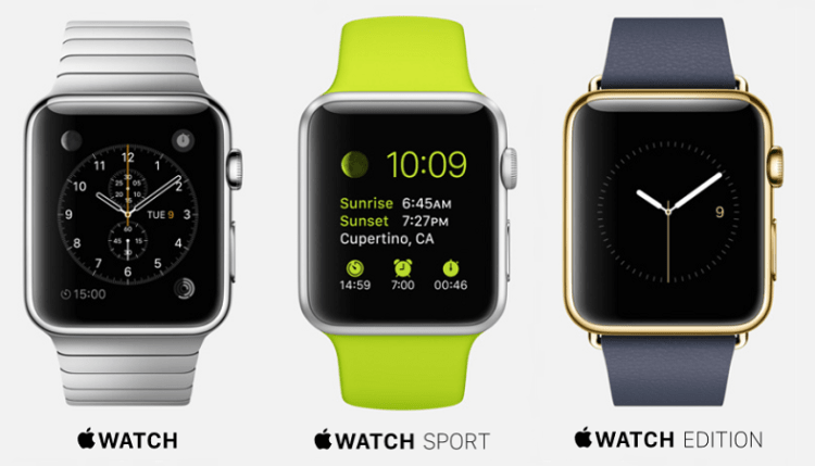 What is the difference between the Apple Watch model: Classic, Edition, Sport from each other?