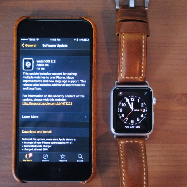 How to update the WatchOS on Apple Watch?