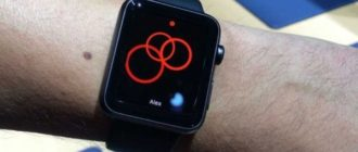 What does the red dot on the Apple Watch mean?