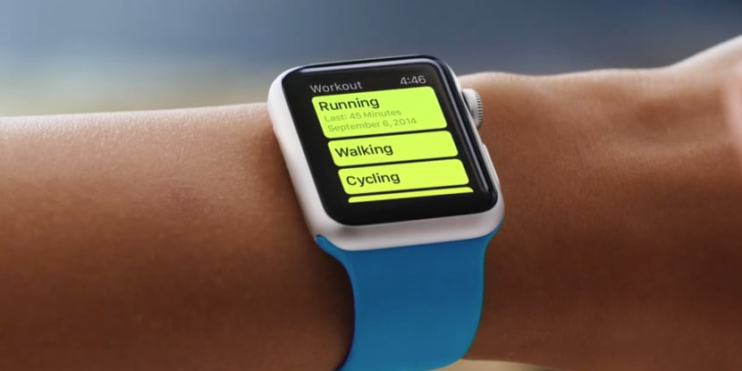 Workout application in iWatch smart watch