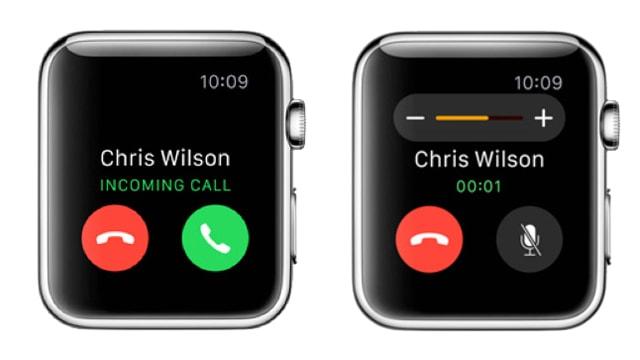 Receiving calls on Apple Watch