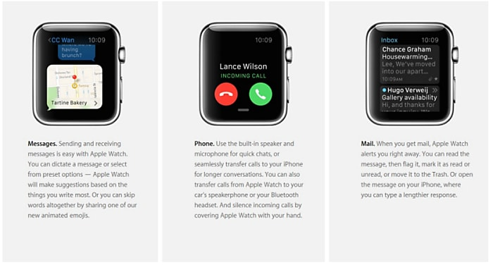 Voicemail on Apple iWatch