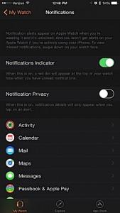 Настройка уведомлений в Apple Watch
