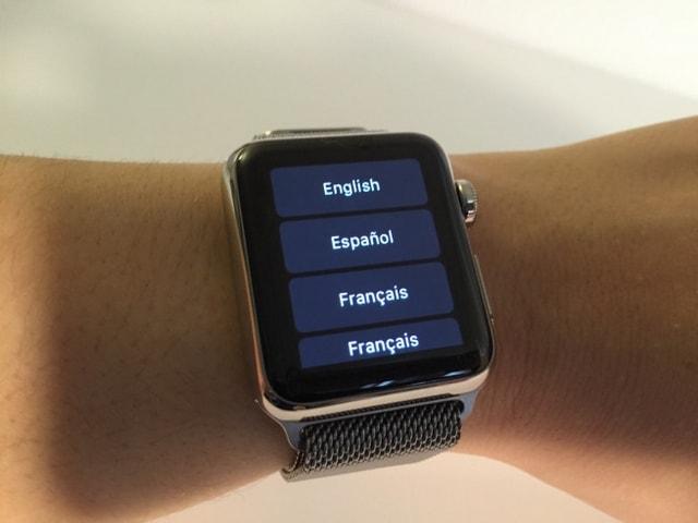 Language selection on Apple Watch
