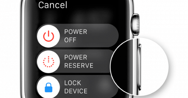 First turn on the iWatch smart watch