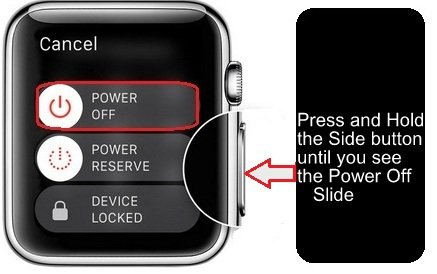 How to correctly reboot a Apple Watch?