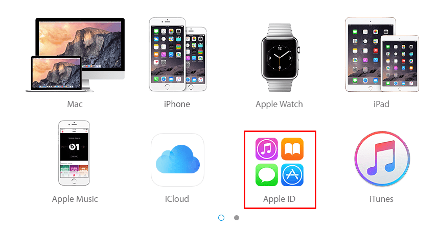 Apple devices, combined in iCloud