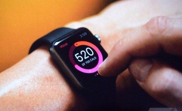 Apple Watch считает потраченные калории