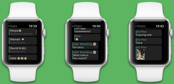 Функционал WhatsApp на Apple Watch