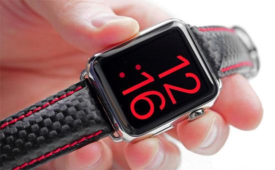 Яркий красный вид для смарт-часов Apple Watch