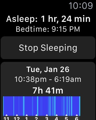 Анализ с помощью приложения Sleep++ для Apple Watch