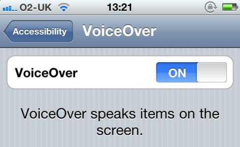 Отключение Voice Over на iPhone