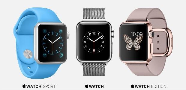 Три модели смарт-часов Apple Watch
