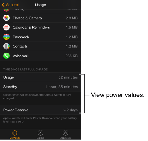 Power Reserve (Ecoregime) in Apple Watch