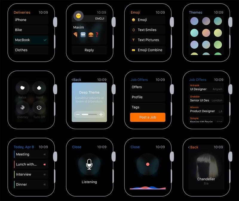Различные темы изображения экрана для ОС