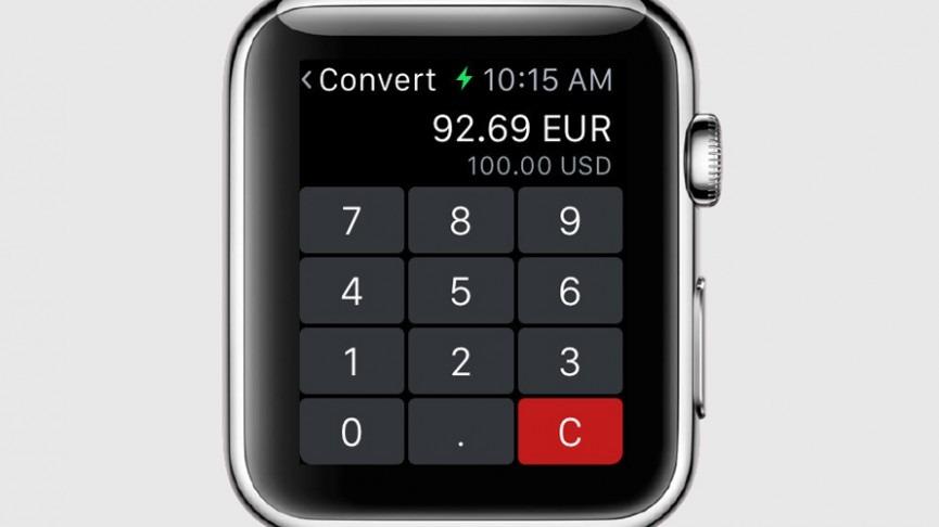 Конвертация валют в Apple Watch