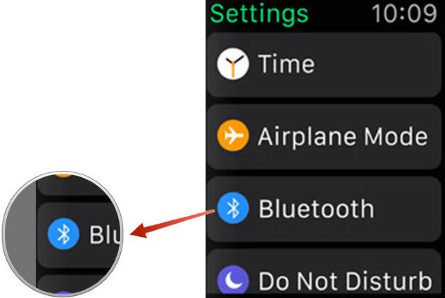 Включение Bluetooth в iWatch