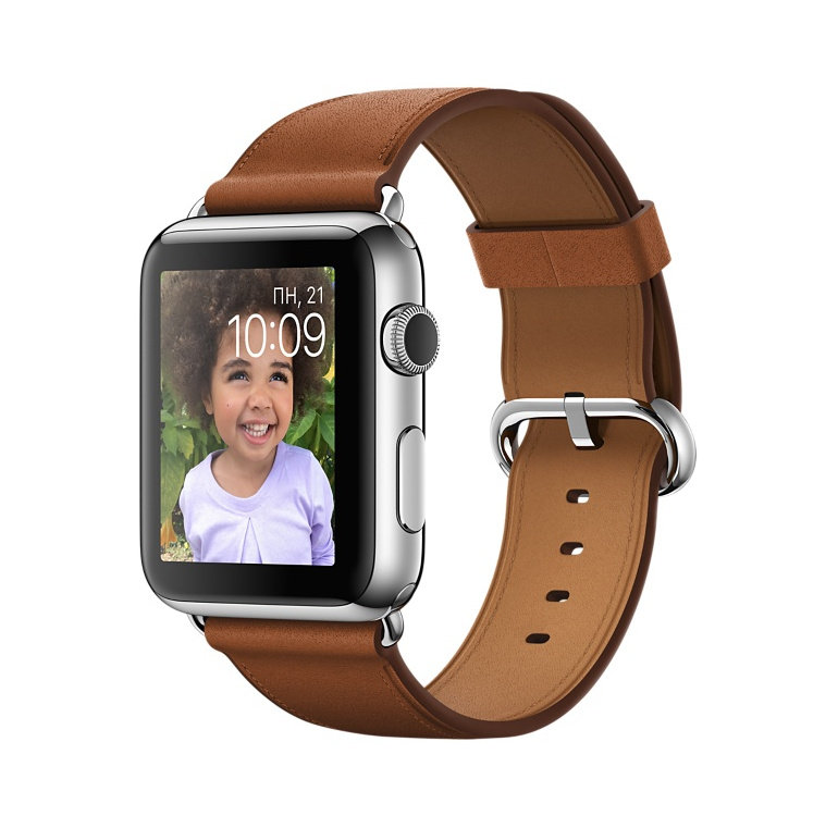 Умные часы APPLE Watch 42mm with Gold-Brown Band MMFT2RU/A