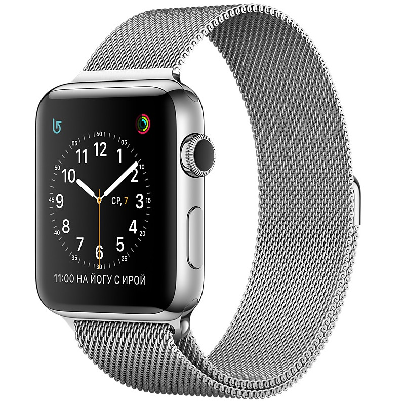 Умные часы APPLE Watch Series 2 38mm with Milanese Mesh Band MNP62RU/A