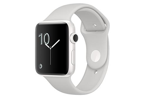 Apple Watch Edition 42 мм, корпус из белой керамики, спортивный ремешок цвета «светлое облако» MNPQ2RU/A