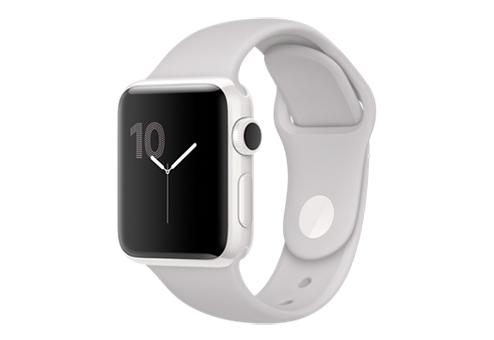 Apple Watch Edition 38 мм, корпус из белой керамики, спортивный ремешок цвета «светлое облако» MNPF2RU/A