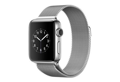 Apple Watch Series 2,  38 мм, корпус из нержавеющей стали, миланский сетчатый браслет MNP62RU/A