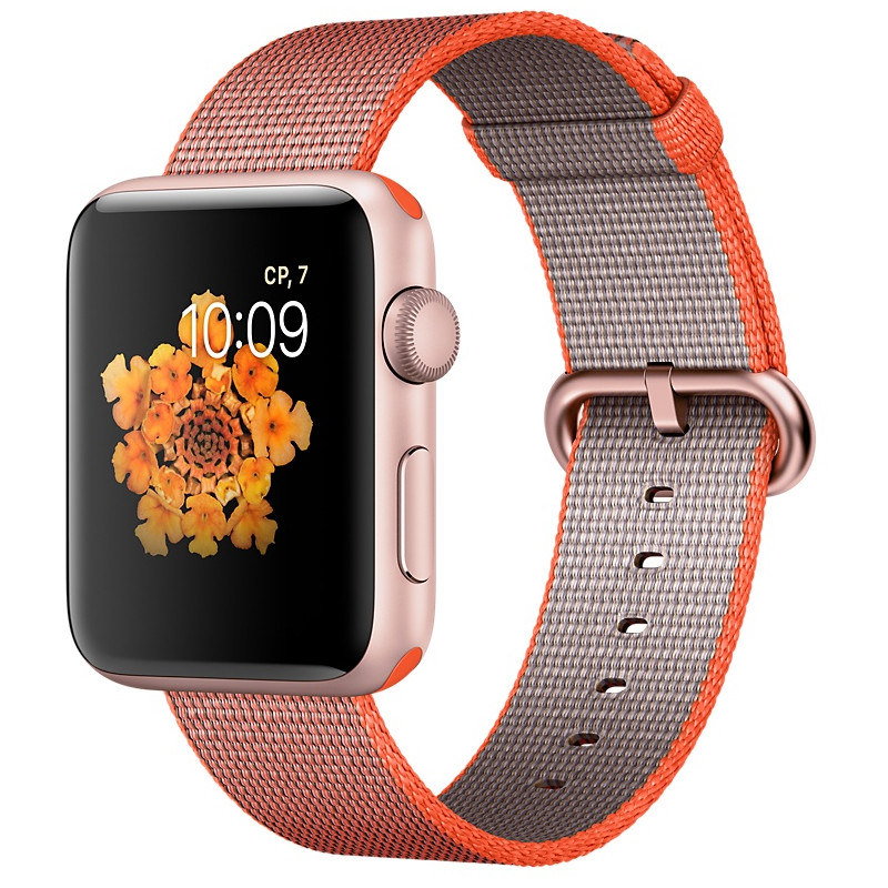 Умные часы APPLE Watch Series 2 42mm Pink Gold with Orange Space-Anthracite Band MNPM2RU/A MNPM2RU/A