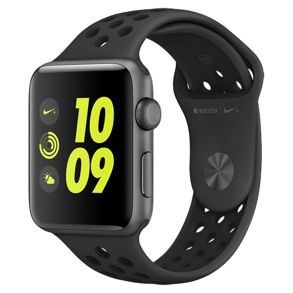 Умные часы APPLE Watch Nike+ 42mm Space Grey Aluminium Case with Anthracite-Black Nike Sport Band MQ182RU/A