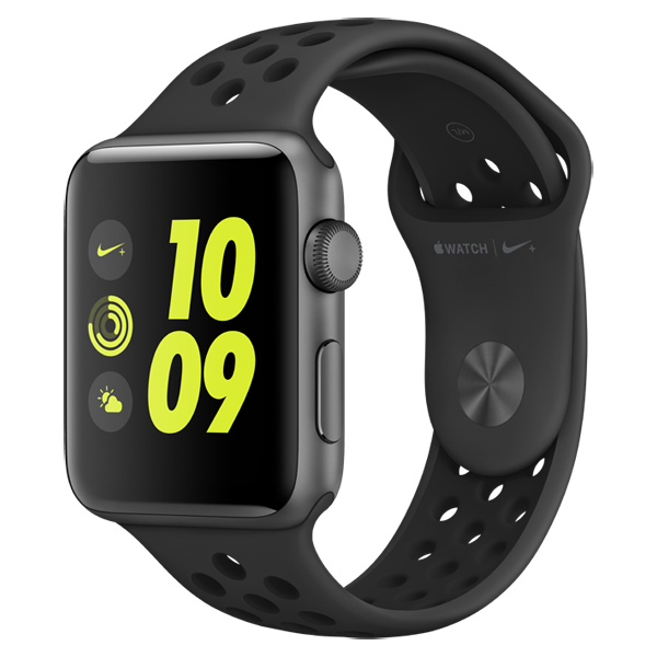 Смарт-часы Apple Watch Nike+ 42mm Space Gray Al/Black (MQ182RU/A)