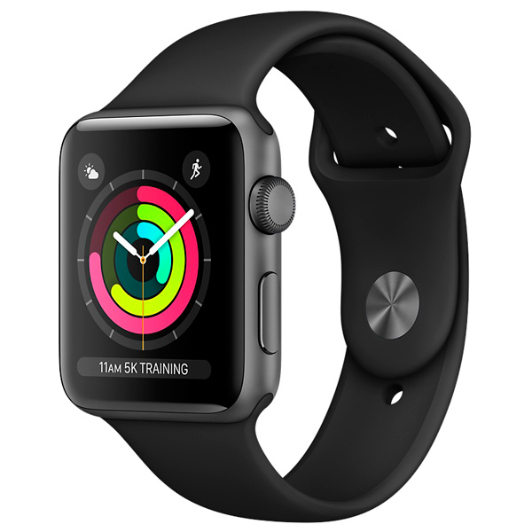 Смарт-часы Apple Watch S3 Sport 38mm Space Gr Al/Bl Band MQKV2RU/A