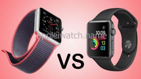 Cравнение apple watch 2 и 3