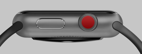The meaning of the red button on the side of the Apple Watch