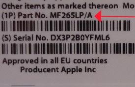 Сведения о стране поставки Apple Watch на коробке
