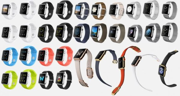 Разновидности ремешков для умных часов от Apple