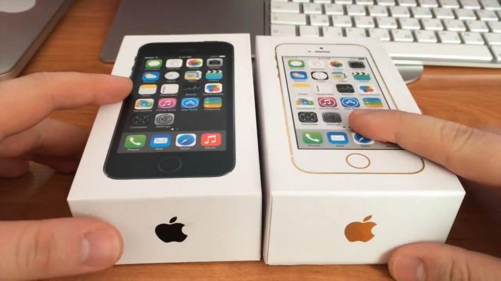 Тыльная сторона коробки iPhone