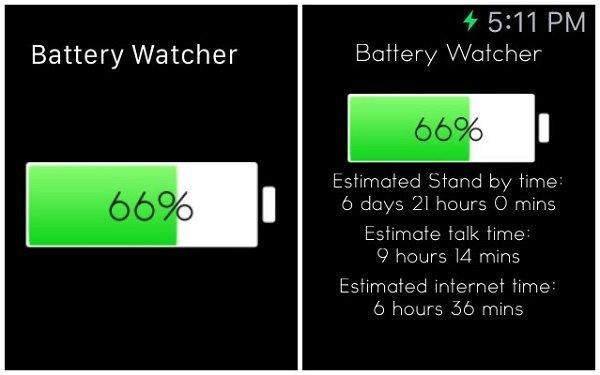 Что показывает приложение Battery Watcher