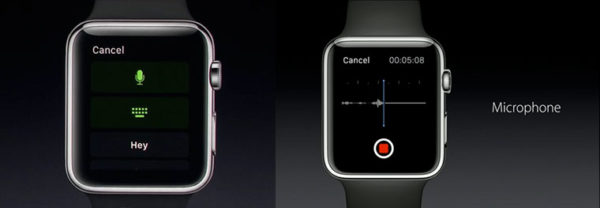Запись на диктофон в Apple Watch