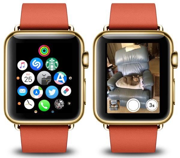Приложение «Камера» в Apple Watch