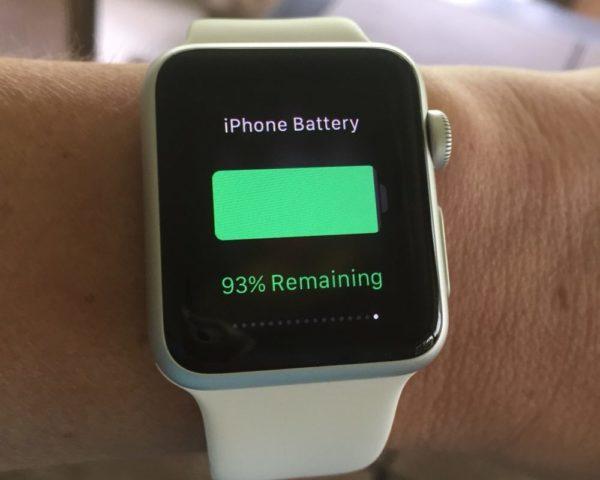 Как отслеживать состояние аккумулятора iPhone через iWatch