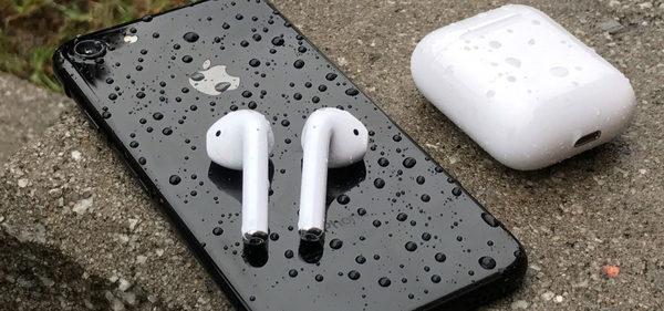 AirPods Headphones in the Rain
