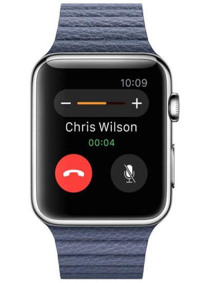 Прием звонков в Apple Watch