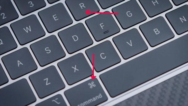 Клавиши R и Command на MAC