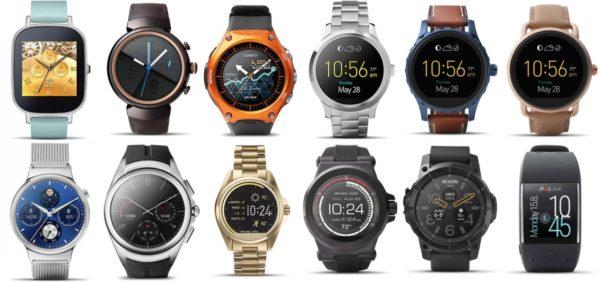 Ассортимент часов на ОС Android