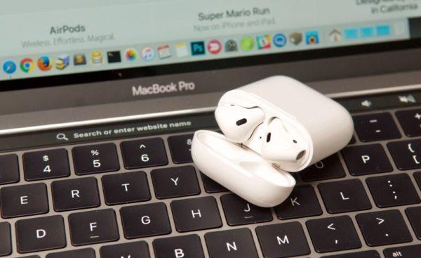 Проверка уровня заряда AirPods через MacBook