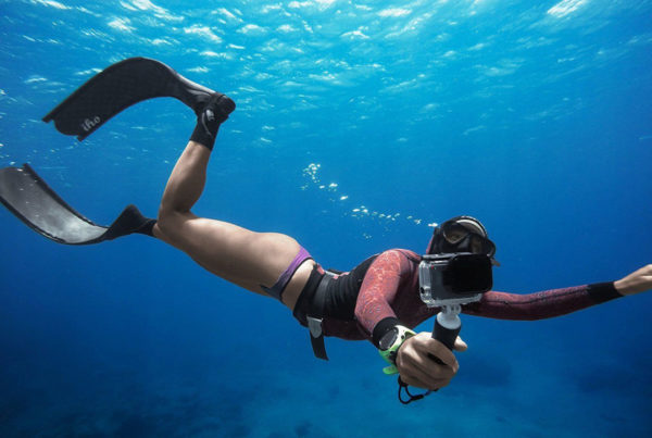 Съемка с включенным Sport Meter под водой