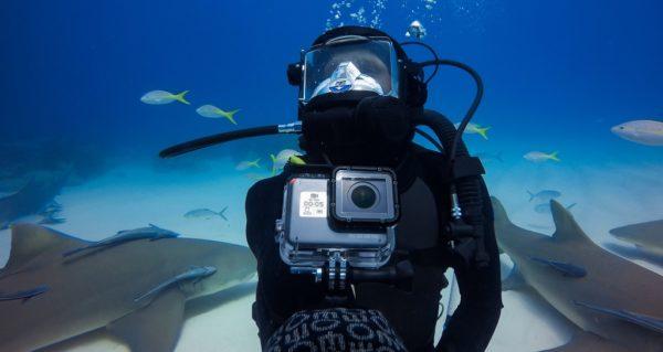 Съемка на GoPro на глубине