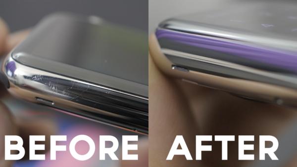 Apple Watch до и после полировки