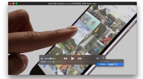 Вывод изображения на Apple TV через QuickTime